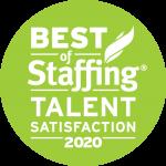Best of Staffing: Talent Satisfaction 2020